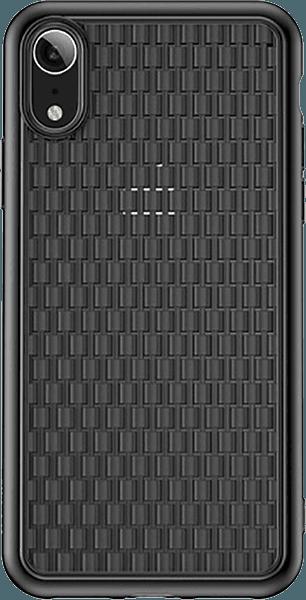 Apple iPhone XR szilikon tok gyári BASEUS fonott minta fekete