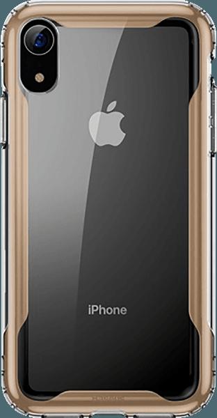 Apple iPhone XR bumper gyári BASEUS légpárnás sarok arany