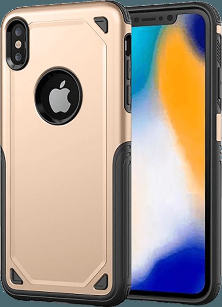 Apple iPhone XR ütésálló tok logó kihagyós arany