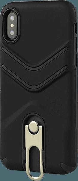 Apple iPhone XR ütésálló tok gumírozott fekete