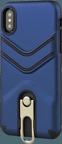 Apple iPhone XR ütésálló tok gumírozott sötétkék