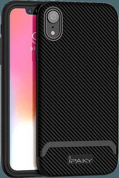 Apple iPhone XR bumper gyári IPAKY karbon mintás fekete