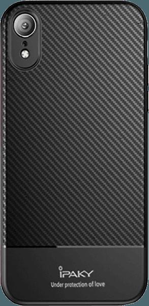 Apple iPhone XR szilikon tok gyári IPAKY karbon mintás fekete