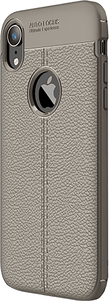 Apple iPhone XR szilikon tok logó kihagyós szürke