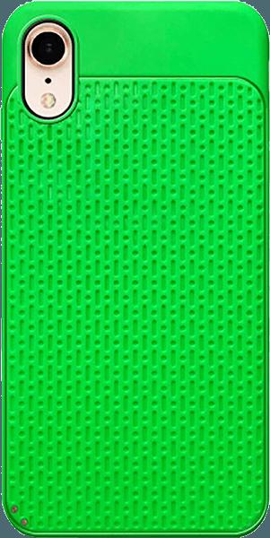 Apple iPhone XR szilikon tok műanyag hátlap zöld