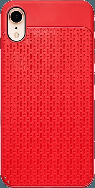 Apple iPhone XR szilikon tok műanyag hátlap piros