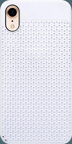 Apple iPhone XR szilikon tok műanyag hátlap fehér