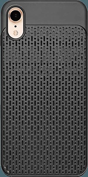 Apple iPhone XR szilikon tok műanyag hátlap fekete