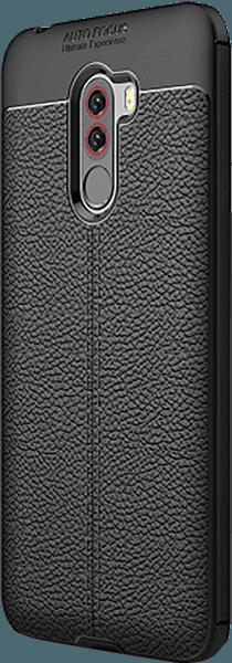 Xiaomi Pocophone F1 szilikon tok varrás mintás fekete