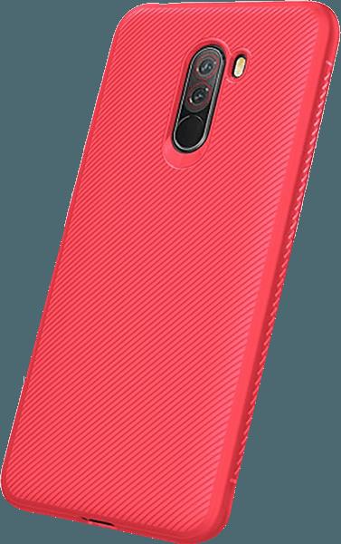 Xiaomi Pocophone F1 szilikon tok közepesen ütésálló piros
