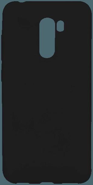 Xiaomi Pocophone F1 szilikon tok matt-fényes keret fekete