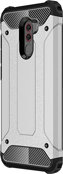 Xiaomi Pocophone F1 ütésálló tok légpárnás sarok ezüst