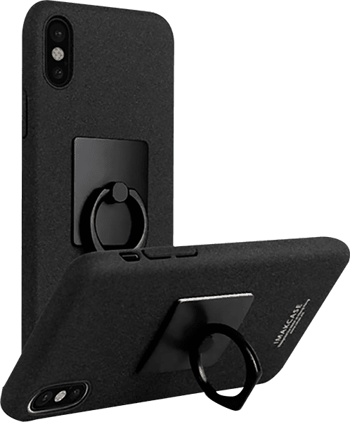 Apple iPhone XS kemény hátlap gyári IMAK 360° ban forgatható fekete