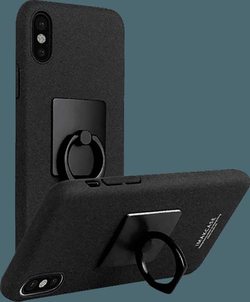 Apple iPhone X kemény hátlap gyári IMAK 360° ban forgatható fekete