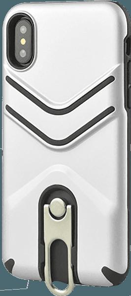 Apple iPhone XR ütésálló tok gumírozott fehér