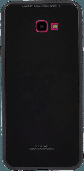 Samsung Galaxy J4 Plus (J415F) kemény hátlap üveg hátlap fekete