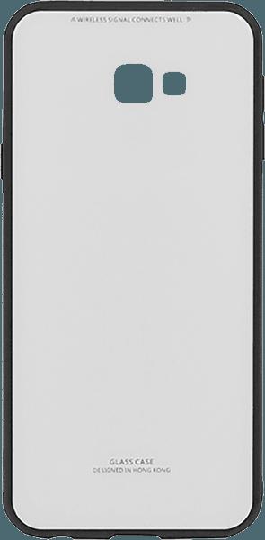 Samsung Galaxy J4 Plus (J415F) kemény hátlap üveg hátlap fehér