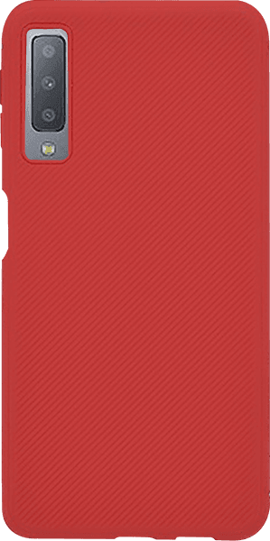 Samsung Galaxy A7 2018 (SM-A750F) szilikon tok nyakba akasztható fül piros