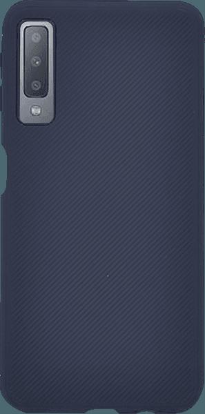 Samsung Galaxy A7 2018 (SM-A750F) szilikon tok nyakba akasztható fül sötétkék