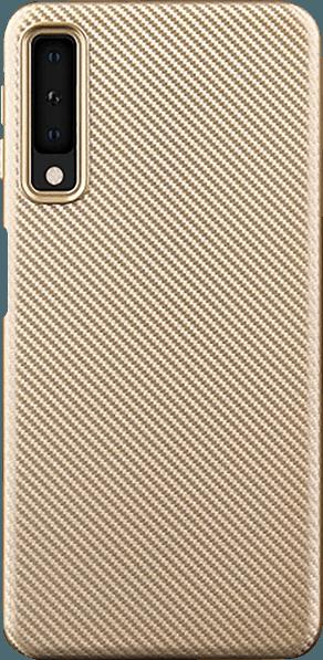 Samsung Galaxy A7 2018 (SM-A750F) szilikon tok karbon mintás arany