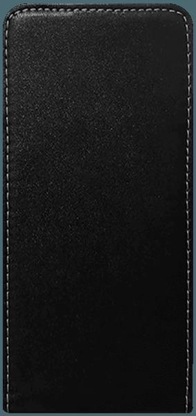 Samsung Galaxy J4 Plus (J415F) lenyíló flipes bőrtok szilikon tartó fekete
