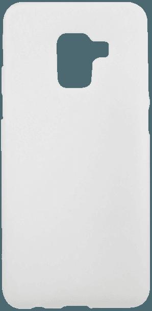 Samsung Galaxy A8 2018 (A530) szilikon tok matt-fényes keret fehér