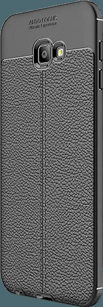 Samsung Galaxy J4 Plus (J415F) szilikon tok varrás mintás fekete