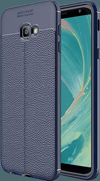 Samsung Galaxy J4 Plus (J415F) szilikon tok varrás mintás sötétkék