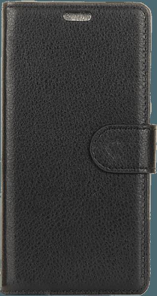 Samsung Galaxy A7 2018 (SM-A750F) oldalra nyíló flipes bőrtok asztali tartó funkciós fekete