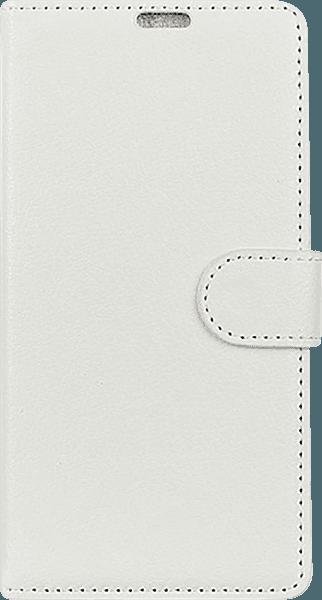 Samsung Galaxy A7 2018 (SM-A750F) oldalra nyíló flipes bőrtok asztali tartó funkciós fehér