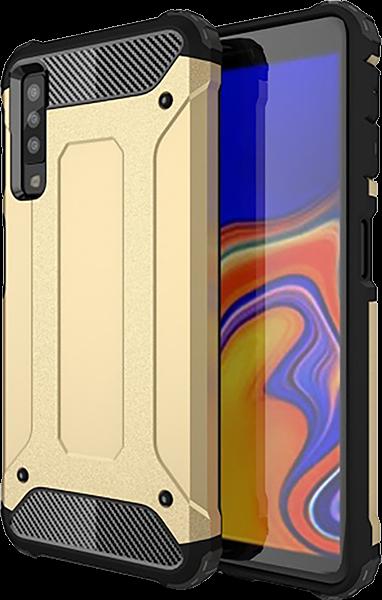 Samsung Galaxy A7 2018 (SM-A750F) ütésálló tok légpárnás sarok arany