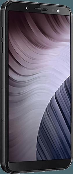 Samsung Galaxy A7 2018 (SM-A750F) szilikon tok kézi tartópánt sötétkék