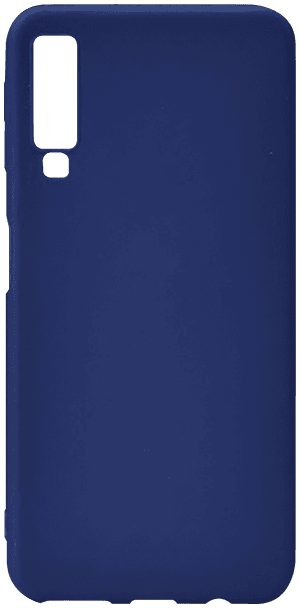 Samsung Galaxy A7 2018 (SM-A750F) szilikon tok matt sötétkék