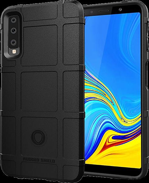 Samsung Galaxy A7 2018 (SM-A750F) szilikon tok négyzet minta fekete