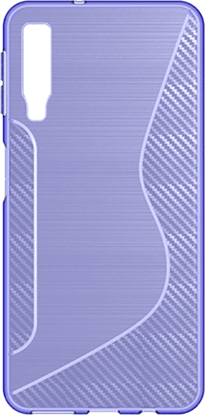 Samsung Galaxy A7 2018 (SM-A750F) szilikon tok karbon mintás lila