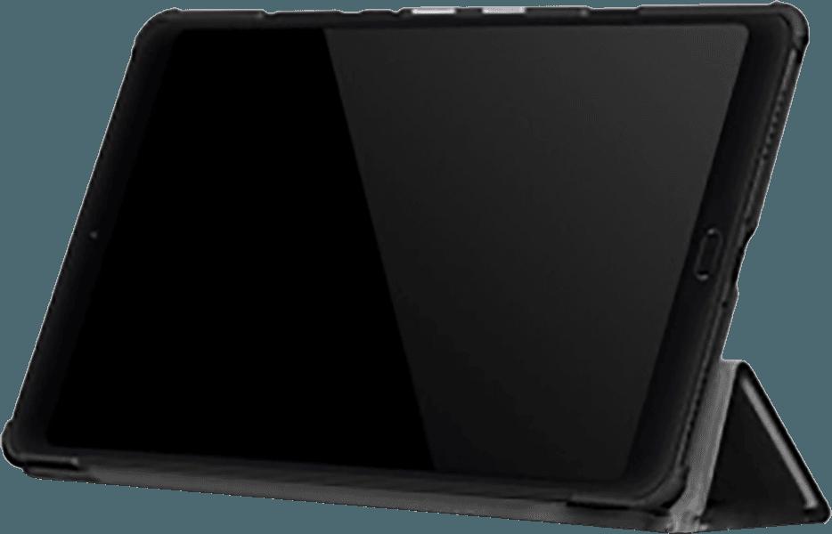 Xiaomi Mi Pad 4 Plus 10.1 oldalra nyíló flipes bőrtok TRIFOLD asztali tartó funkció fekete