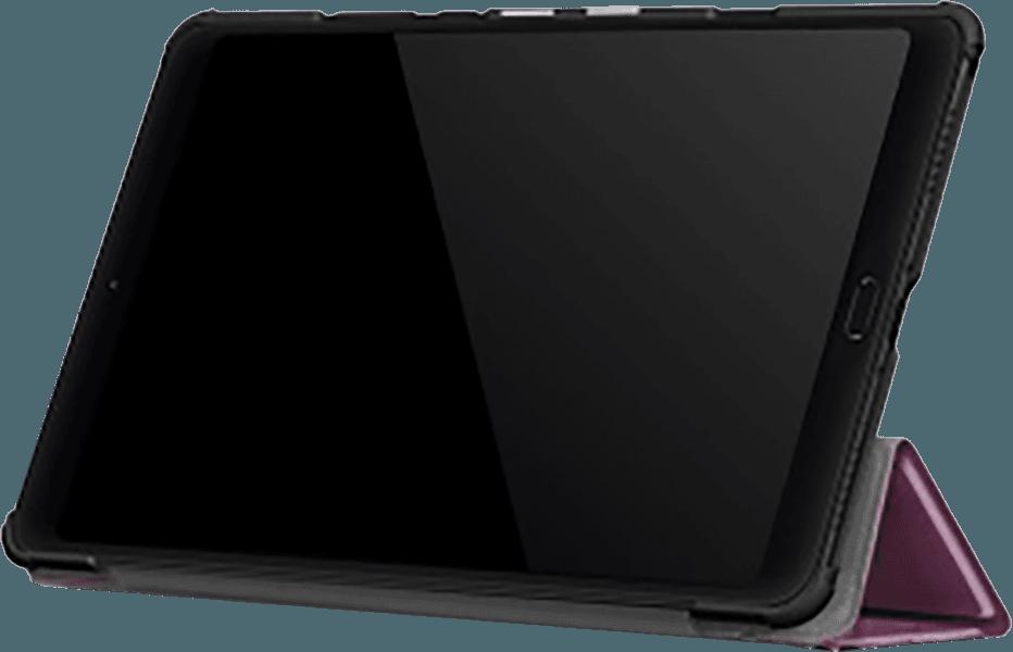 Xiaomi Mi Pad 4 Plus 10.1 oldalra nyíló flipes bőrtok TRIFOLD asztali tartó funkció lila