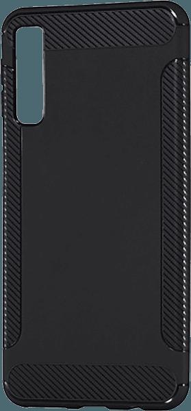 Samsung Galaxy A7 2018 (SM-A750F) szilikon tok karbon mintás fekete