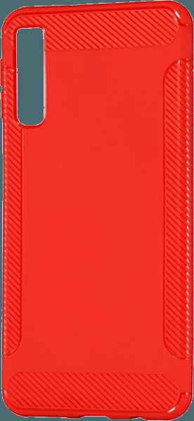 Samsung Galaxy A7 2018 (SM-A750F) szilikon tok karbon mintás piros