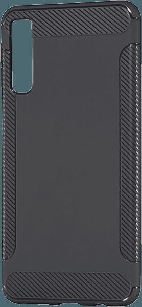 Samsung Galaxy A7 2018 (SM-A750F) szilikon tok karbon mintás szürke