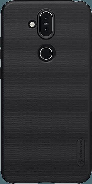 Nokia 8 2018 (Nokia 8.1) kemény hátlap gyári NILLKIN gumírozott-érdes felületű fekete