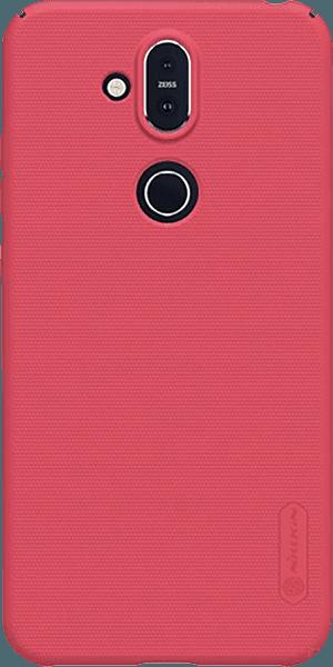 Nokia 8 2018 (Nokia 8.1) kemény hátlap gyári NILLKIN gumírozott-érdes felületű piros