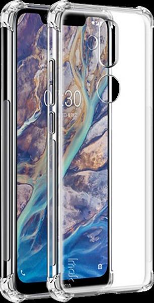 Nokia 8 2018 (Nokia 8.1) szilikon tok gyári IMAK légpárnás sarok átlátszó