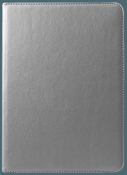 Apple iPad Pro 2018 12.9 oldalra nyíló flipes bőrtok 360° ban forgatható ezüst