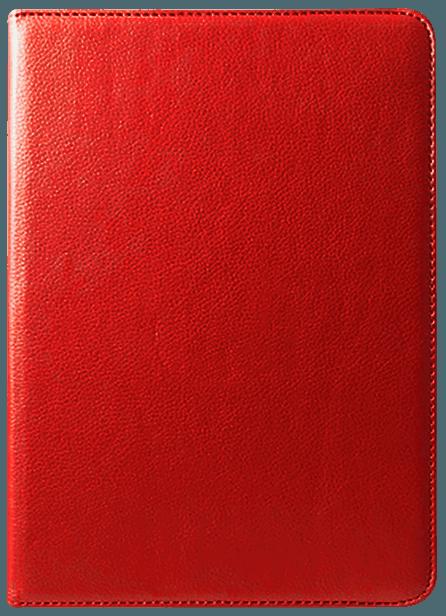 Apple iPad Pro 2018 12.9 oldalra nyíló flipes bőrtok 360° ban forgatható piros