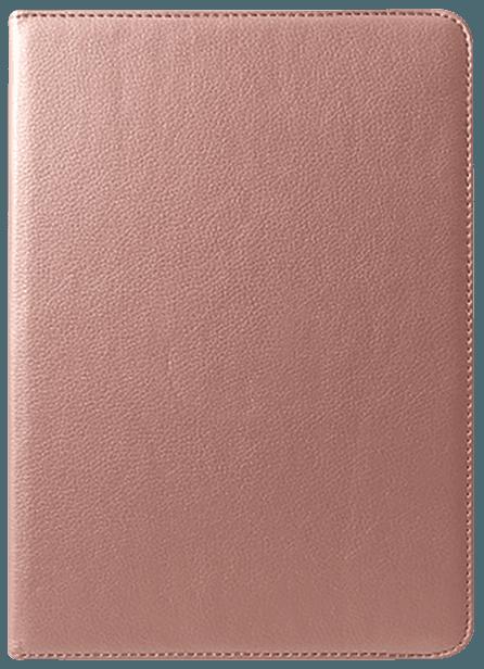 Apple iPad Pro 2018 12.9 oldalra nyíló flipes bőrtok 360° ban forgatható rozéarany