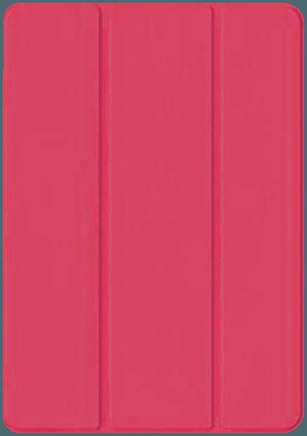 Apple iPad Pro 2018 12.9 oldalra nyíló flipes bőrtok TRIFOLD asztali tartó funkció rózsaszín