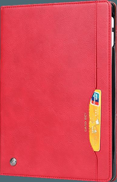 Apple iPad Pro 2018 12.9 oldalra nyíló flipes bőrtok bankkártya tartó piros