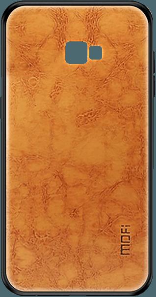 Samsung Galaxy J4 Plus (J415F) kemény hátlap bőr gyári MOFI hátlap barna