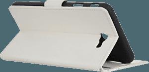 Samsung Galaxy J4 Plus (J415F) oldalra nyíló flipes bőrtok asztali tartó funkciós fehér